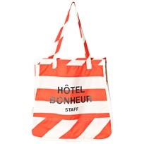 Tinycottons Stripes Tote Bag Off-White/Carmine off-white/carmine