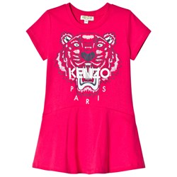 Kenzo Pink Tiger Print Jersey Skater Dress