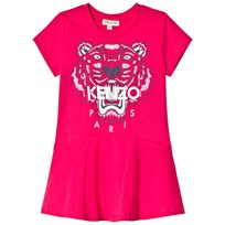 Kenzo Pink Tiger Print Jersey Skater Dress 35