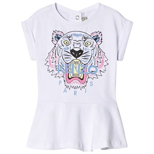 Image of Kenzo Tiger Print Jersey Dress White 2 years (2952662343)