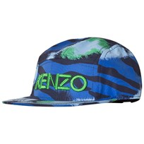 Kenzo Navy and Blue Tiger Cap 49