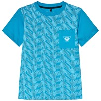 Armani Junior Blue Eagle Branded Front Pocket Tee 1520