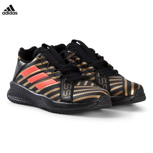 Image of adidas Performance Black, Gold and Red Rapida Turf Messi Trainers 28 (UK 10.5) (2952661175)