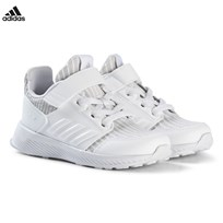 adidas Performance Grey RapidaRun Knit Velcro Infants Trainers GREY TWO F17/FTWR WHITE/FTWR WHITE