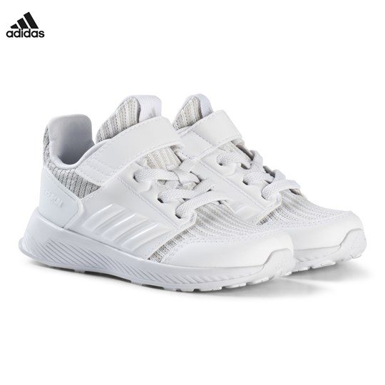 adidas Performance Grey Rapida Run Knit Velcro Infants Trainers GREY TWO F17/FTWR WHITE/FTWR WHITE