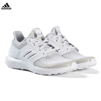 adidas Performance Grey RapidaRun Knit Junior Trainers GREY TWO F17/FTWR WHITE/FTWR WHITE
