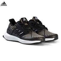 adidas Performance Black RapidaRun Knit Kids Trainers CORE BLACK/CORE BLACK/FTWR WHITE