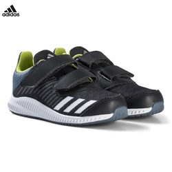 adidas Performance Grey and Silver FortaRun Velcro Infants Trainers