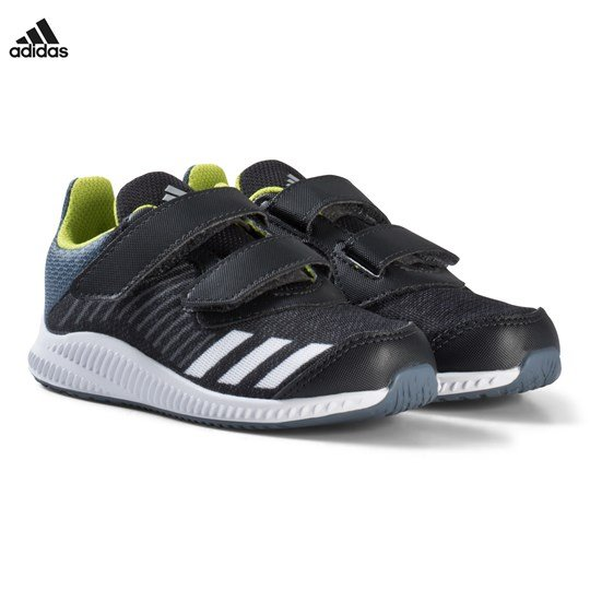 adidas Performance Grey and Silver FortaRun Velcro Infants Trainers CARBON S18/SILVER MET./RAW STEEL S18