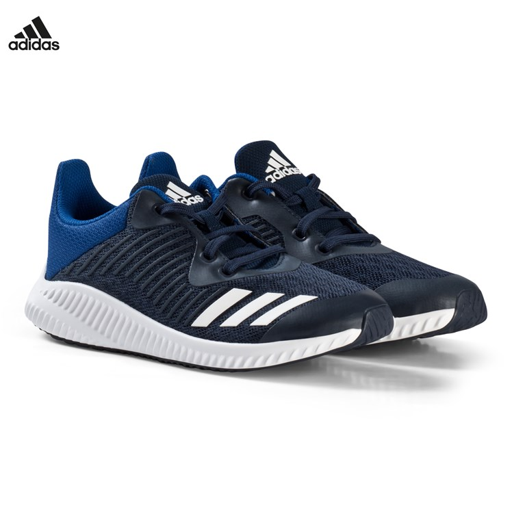 adidas Performance Navy and White Forta Run Trainers