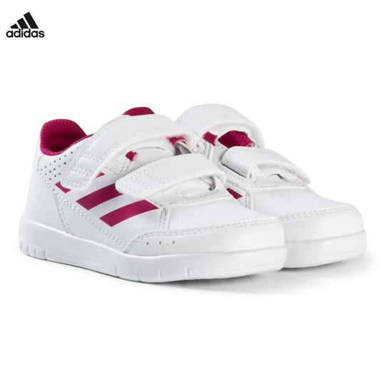 adidas Performance White and Pink Alta Sport Velcro Infants Trainers FTWR WHITE/BOLD PINK/FTWR WHITE