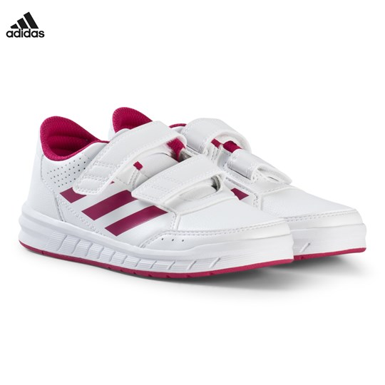 adidas Performance White and Pink Alta Sport Velcro Kids Trainers FTWR WHITE/BOLD PINK/FTWR WHITE