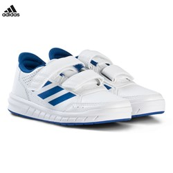 adidas Performance White and Blue AltaSport Velcro Kids Trainers