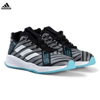 adidas Performance Grey and Blue Rapida Turf Messi Trainers CORE BLACK/FTWR WHITE/SUPER CYAN S12