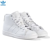 adidas Originals White Junior Stan Smith Hi Top Trainers FTWR WHITE/FTWR WHITE/FTWR WHITE