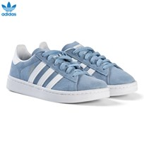 adidas Originals Blue Campus Kids Trainers ASH BLUE S18/FTWR WHITE/FTWR WHITE