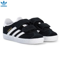 adidas Originals Black Gazelle Infants Velcro Trainers CORE BLACK/FTWR WHITE/FTWR WHITE
