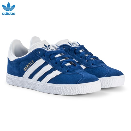 sneakers for cheap 3a233 6d185 adidas Originals Blue Gazelle Kids Trainers COLLEGIATE ROYALFTWR  WHITEFTWR WHITE