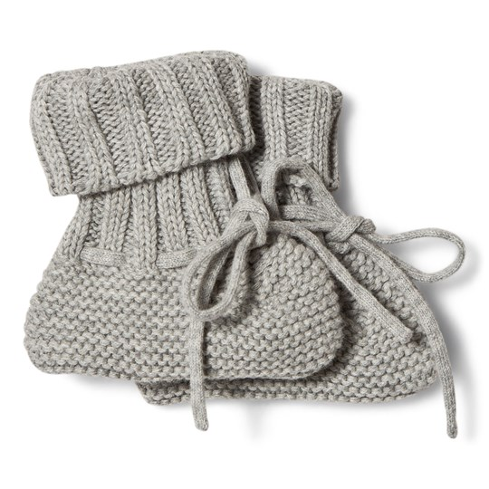 1ec715b7b498a FUB - Baby Booties Light Grey - Babyshop.com