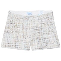 Mayoral Pale Blue and Pink Sequin Tweed Shorts 72