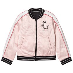 IKKS Reversible Pink and Silver Bomber Jacket