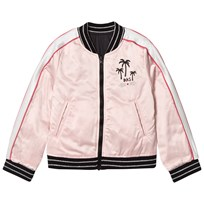 IKKS Reversible Pink and Silver Bomber Jacket 32