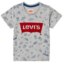Levis Kids Grey All Over Print and Logo Tee 20