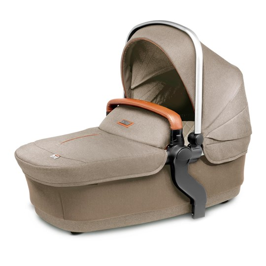 Silver Cross Wave Carrycot and Tandem Seat Linen Linen