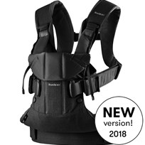 Babybjörn Baby Carrier One Black Cotton Mix Black, Cotton Mix