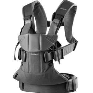 Image of Babybjörn Baby Carrier One Denim Grey/Dark Grey Cotton Mix One Size (1066918)