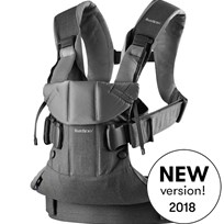 Babybjörn Baby Carrier One Denim Grey/Dark Grey Cotton Mix Denim grey/Dark grey, Cotton Mix