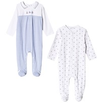 Mayoral Blue and White Pack of 2 Sailor Boat Babygrows 3