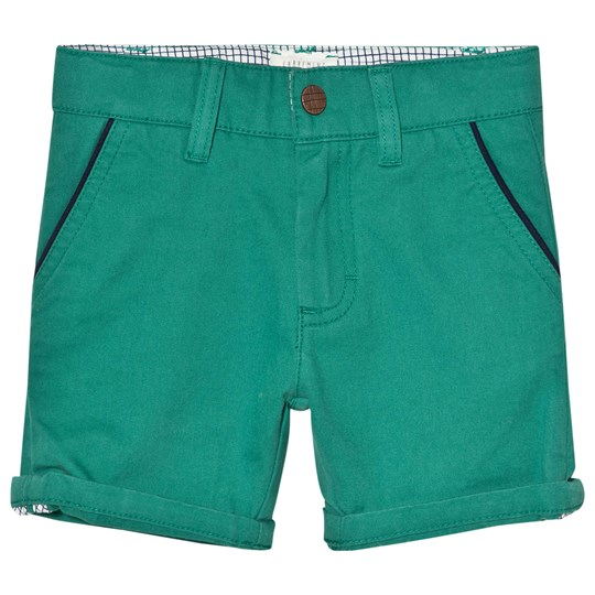 Carrément Beau Green Chino Shorts with Pipe Pockets 68D