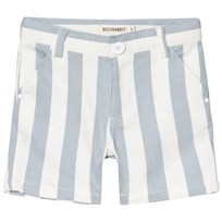 Billybandit Blue and White Stripe Twill Shorts N58-ECRU BLUE