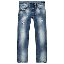 Diesel Acid Wash and Distressed Tomer Skinny Fit Jeans K01