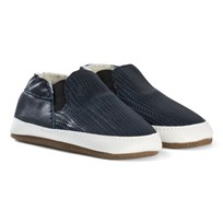 Melton Slip-On Leather Shoes Blue Nights Blue Nights