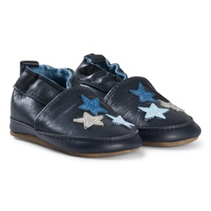 Image of Melton Stars Leather sko Blue Nights 0-6M 16-19 (2954433997)