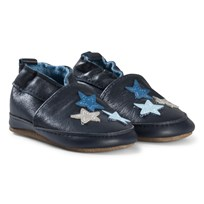 Melton Leather shoe - Stars Blue Nights Blue Nights