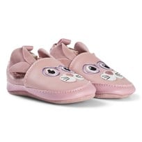 Melton Leather shoe - Mouse w. ears Blush rose BLUSH ROSE