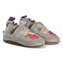 Melton Flowers Leather Shoes Chateau Grey Chateau Gray