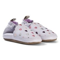 Melton Leather shoe - Hearts Blue Ice Purple Blue ice Purple
