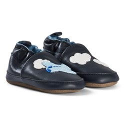 Melton Airplane Leather Shoes Blue Nights