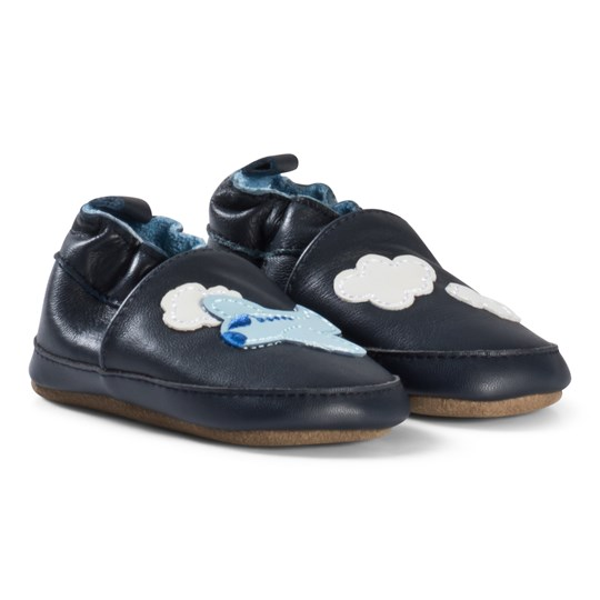 Melton Airplane Leather Shoes Blue Nights Blue Nights