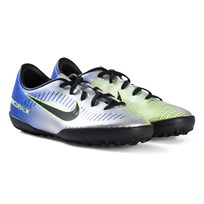 NIKE Blue and Silver Mercurial Victory VI Firm Artificial Turf Football Boots 407