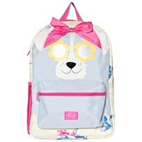 Tom Joule Stripe and Floral Dog Face with Glitter Sunglasses Backpack dog