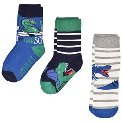 Tom Joule Brilliant Bamboo 3-Pack Socks with Dinosaurs