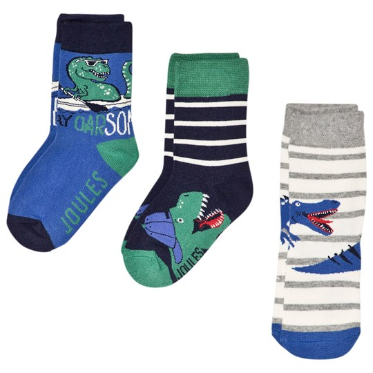 Tom Joule Brilliant Bamboo 3-Pack Socks with Dinosaurs Dino