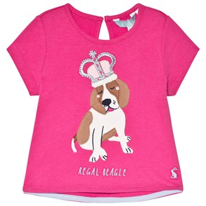 Image of Tom Joule Maggie Applique Tee Bright Pink Dog 1 year (2954433821)