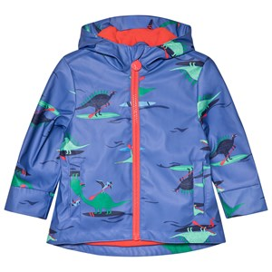 Image of Tom Joule Blue Dino Paddle Printed Rubber Raincoat 1 year (2954432889)