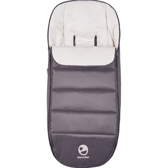 EasyWalker Mosey+ Footmuff Pebble Grey Black